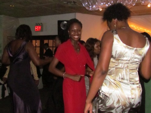 The evening of elegance started out and ended with dancing.