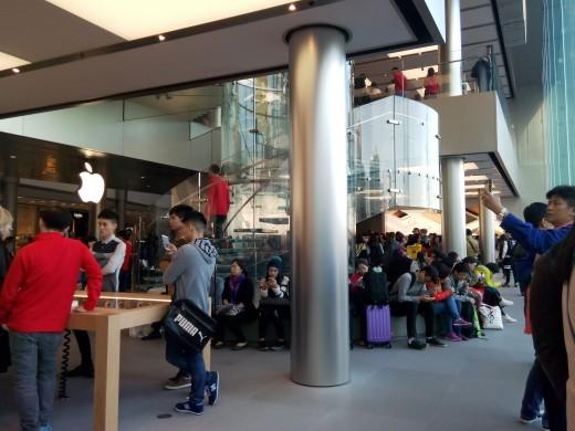 Interior of Apple Store ,Hong Kong