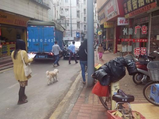 Typical Chinese neighbourhood in Baishizhou, Shenzhen