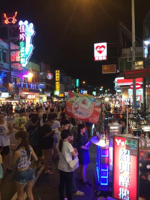 Night market, China