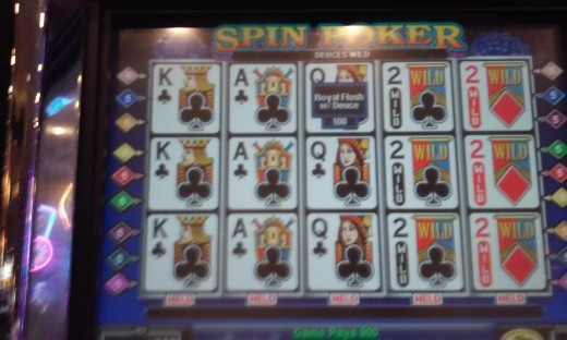 Dealt Wild Royal on a 9 play spin poker