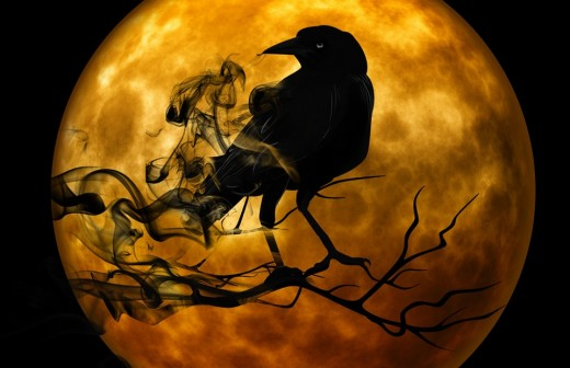 The Morrigan (Raven) watches for the dead.