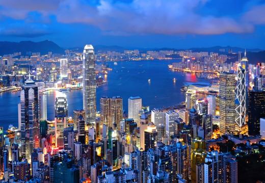 Hong Kong Island. So shiny and pretty!