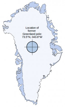 Here was the former North Pole located some 110,000 years ago. There's less than 0.002% chance that it WASN'T at that location. Greenland moved in 3 steps over the North pole