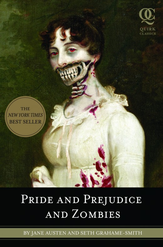 The original book, showing an altered cover of the original novel while also adding the new 'author' to Jane Austen's name