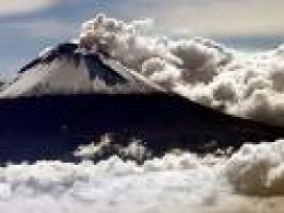 Mighty, 17,000 foot Popocatepetl Volcano provides water for Las Estacas.