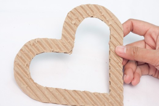 Is this what your cut out cardboard heart looks like?  If so, you are doing exactly what you are supposed to be doing.  If not, try again from the beginning.