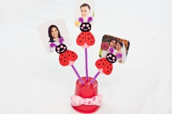 Kids Valentine's Day Craft - A Love Bug Photo Holder