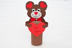 How To Make A Valentine's Day Bear - Kids Craft Idea