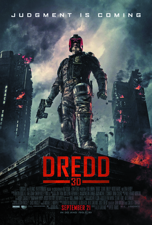 "Poster for the 3D version of ""Dredd"""