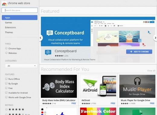The Chrome Web Store