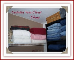 How I Organized My Closet, Cheap and Decluttered.