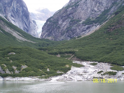 GLOBAL WARMING IS HAVING ITS EFFECT - THIS GLACIER USE TO REACH THE SEA