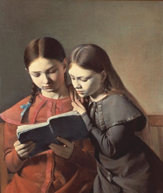 Carl Hansen (1804-1880) Reading a book then getting an email, Fate or just coincidence?