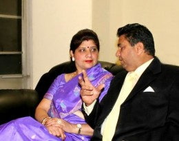 Surabhi's parents. Courtesy of Surabhi