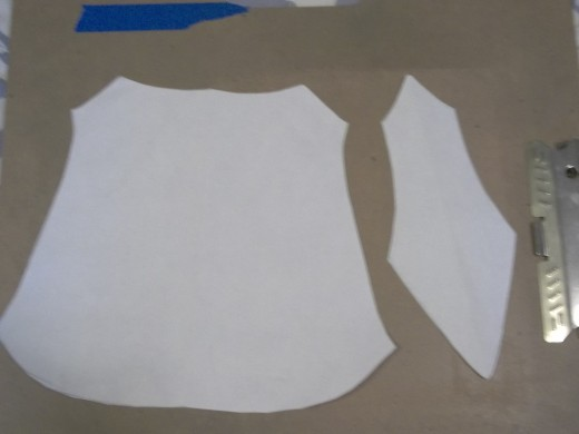 My pattern pieces for my arm bracers.
