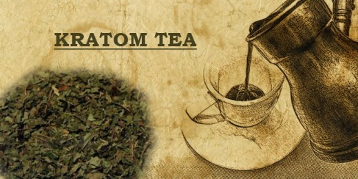 Kratom powder can be made into tea