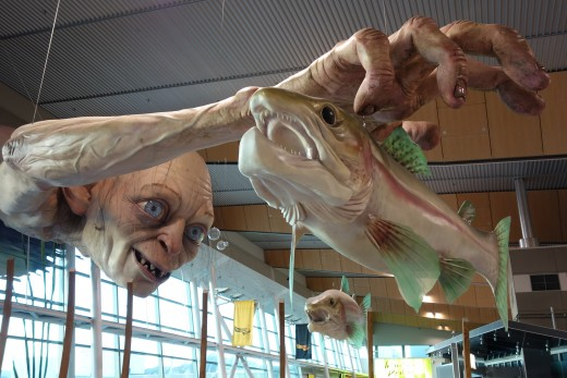 Sculpture at Wellington Airport.