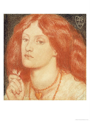 Drawing of Elizabeth Siddal