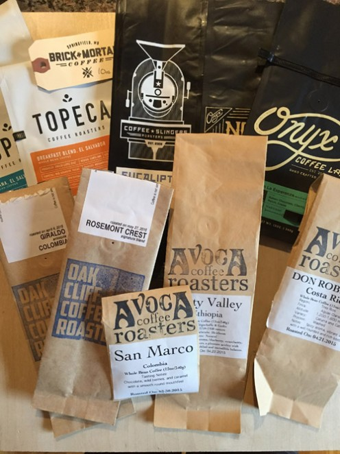 Something fun to try - when you travel, pick up coffee from local roasters! We save the bags as mementos.