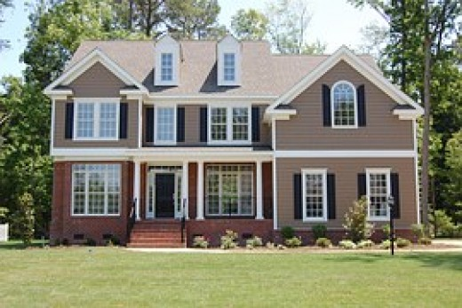 House with white trim.
