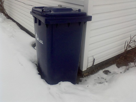 The old recycle box was a foot and a half high. The new recycle box is four feet high. Have we gotten better at recycling or are we getting worse by producing more garbage?