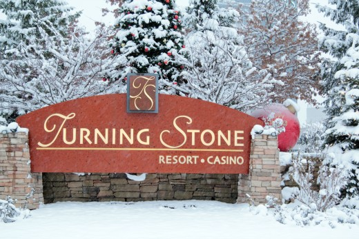 Entrance to the Turning Stone Resort