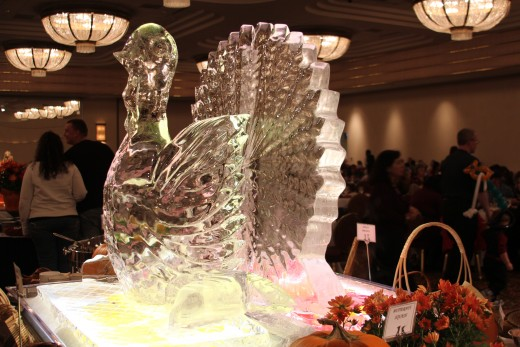 Just one of the many Ice sculptures