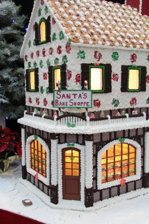 Holiday Gingerbread House Display