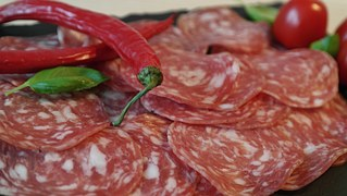 Salami is wonderful on an antipasto but you can also serve it with cheese and crackers or eat it on a sandwich.