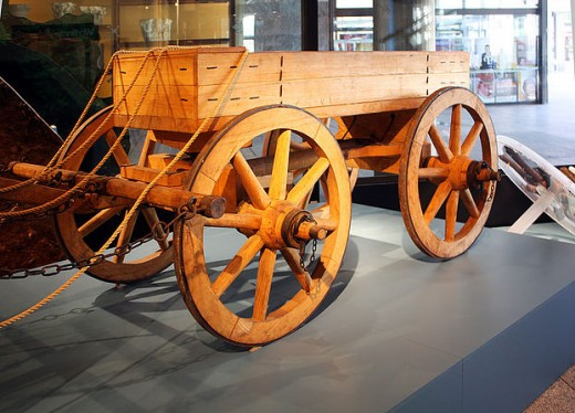 Reconstruction of a Roman courier cart