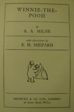 Wonderful Tales of Christopher Robin, Pooh, Eeyore, Piglet, Tigger, Rabbit, Owl.... by A A Milne (& please don't mention Disney!)