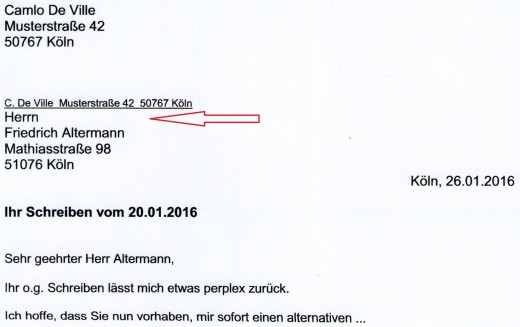How to set out a formal letter in german hubpages sample 3 expocarfo Image collections