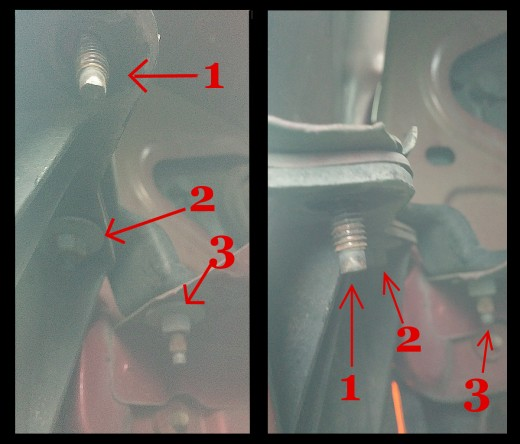 Two views of the same area with bracket.