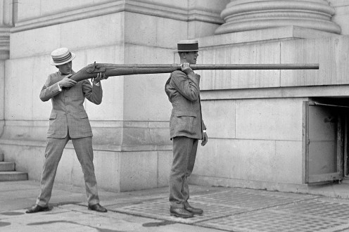 A Punt Gun, used for duck hunting, but later banned because they depleted stocks of wild fowl.