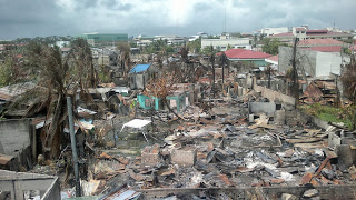 A skyview shot of the devastation caused by the Zamboanga Siege on October 2013. Taken in Brgy. Sta. Barbara.