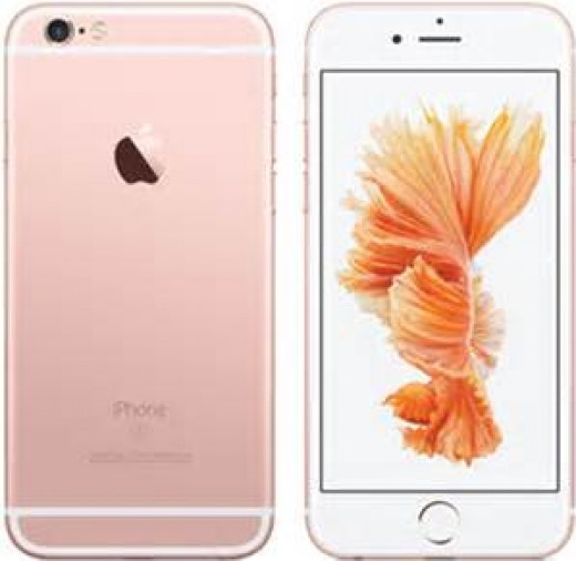 This is a picture of an iPhone 6s in the new colour Rose Gold