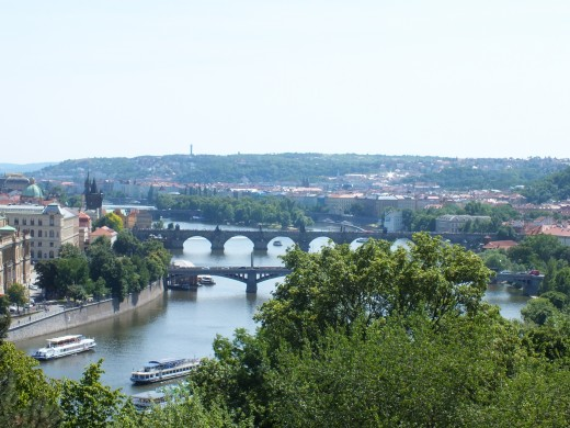 The photo was taken from part of Prague called Letná