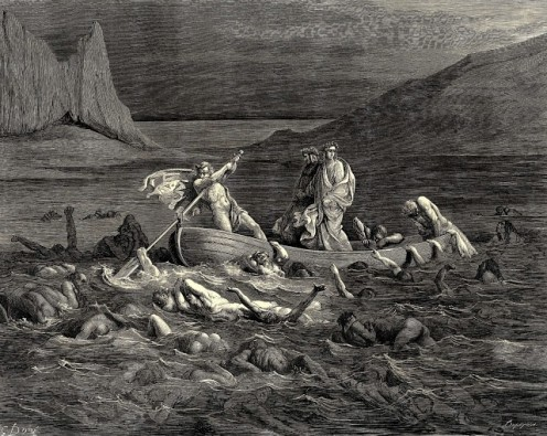 Dante & Vigil going through the River of Styx