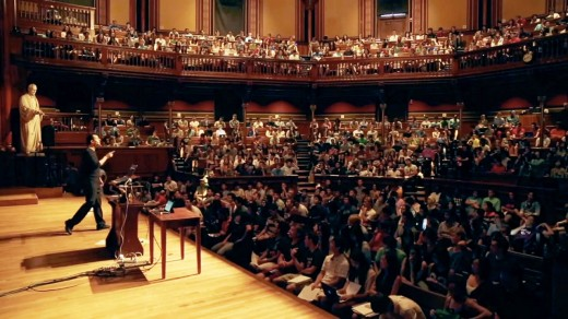 A recent CS50 lecture hall: Harvard's favourite class with David Malan