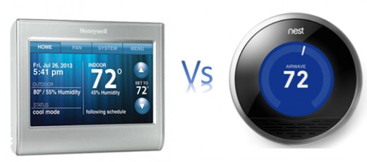 The Honeywell 9580 and Nest Smart Learning Thermostat