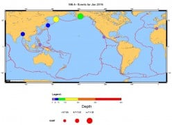 Earthquake Review and Forecast for February 2016