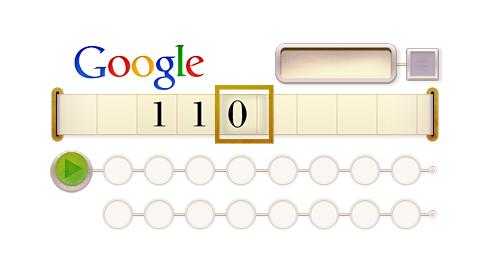 Alan Turing Doodle image