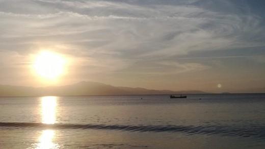 Sunset at Cachoeira do Bom Jesus Beach, at Florianópolis. A five minutes walk away from Sapiens Parque, a Inovation Park.