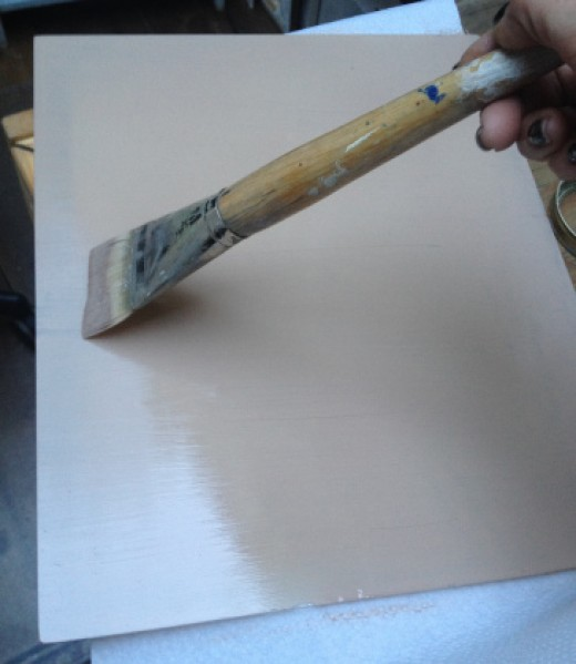 Paint the glass and allow several days to dry