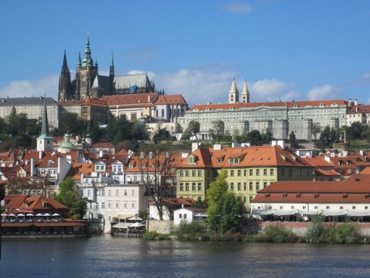 Prague Castle with its dominant feature - St. Vitus Cathedral