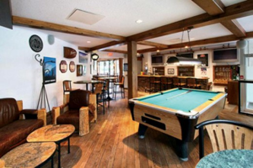 Walk in, head straight to the back and you'll find our favourite spot. Usually less busy, this area has its own bar, pool table, and couches.