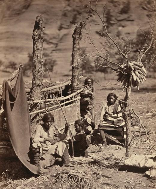 Navajo family, 1873