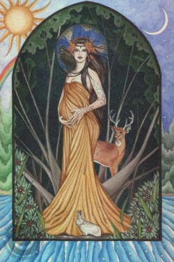 Brigid, the Gaelic goddess of poetry