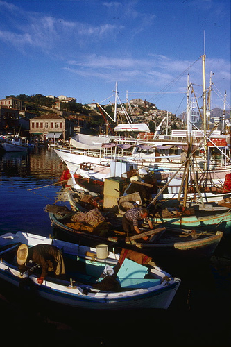 Molyvos Harbour, Lesbos